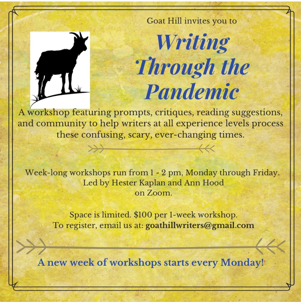 Writing Through the Pandemic with Hester Kaplan